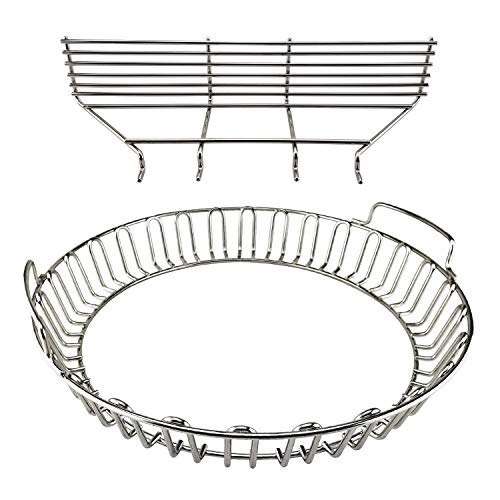 Kick Ash Basket Stainless Steel Charcoal Ash Basket Ring — for Weber Grill Grates (18 in)