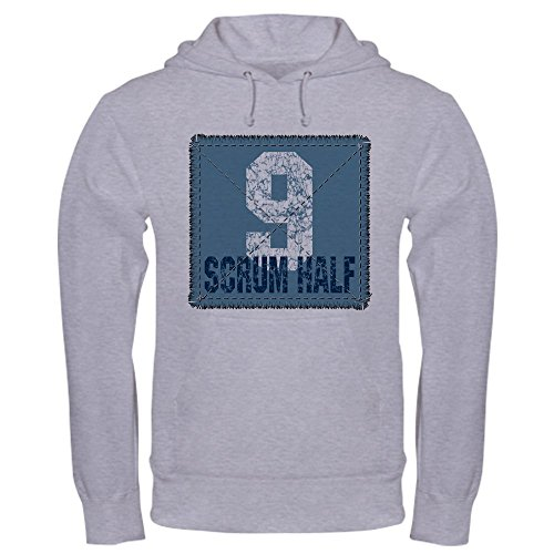 CafePress Rugby Scrum Half Hooded Sweatshirt Pullover Hoodie, Classic & Comfortable Hooded Sweatshirt Heather Grey