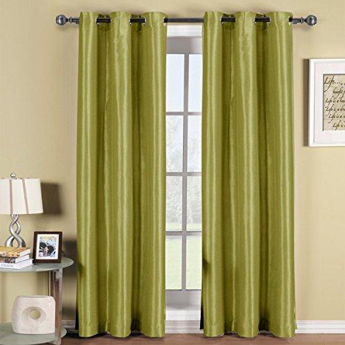 Elegance Linen Rideaux occultants à Triple Couche pour fenêtre/Rideaux – 54 cm de Large x 84 cm de Long – Sauge