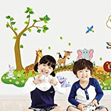 The Lovely Animal Kindergarten Decorative Wall Stickers Removable For Kids Rooms Home Decor
