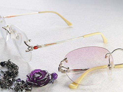 累進多焦点遠近両用老眼鏡(境目のない遠近両用メガネ) TK-103 2色 7度数 (+2.50, クリアレンズ)