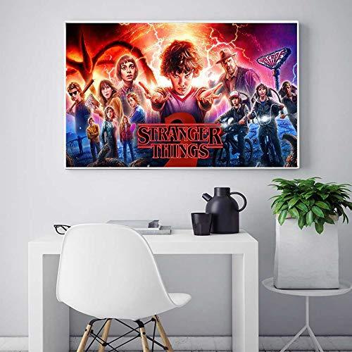 KWzEQ TV-Filmdrucke Seide Leinwand Wandkunst schmücken Kinderzimmer und Schlafzimmer,Rahmenlose Malerei,30X45cm