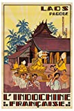 Herbé TM Indochine-Poster Laos Rf176, 40 x 60 cm, d1,
