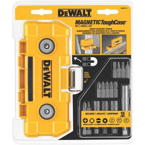 DEWALT Impact Driver Bit Set with Magnetic Tough Case, 15-Piece (DWMTC15)