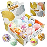 LANSCARE Bath Bombs Gift Set 9 Fizzies Balls with Rich Bubbles Shower Bomb Spa Spa Relaxing Gifts for Women, Romantic Gifts for Her/Him, Wife, Girlfriend