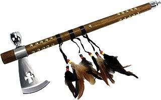 Wuu Jau Co L-111 Native American Peace Pipe Tomahawk Axe, 18