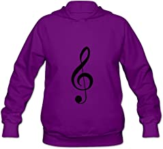 Music Symbol Awesome 100% Cotton Long Sleeve Sweatshirts For Women's