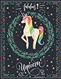 Fabulous Unicorn Sketchbook: Floral and Magical Sketchbook For Kids 8.5 x 11 Inches 100 Pages for Drawing, Doodling or Sketching, Mythical Creatures