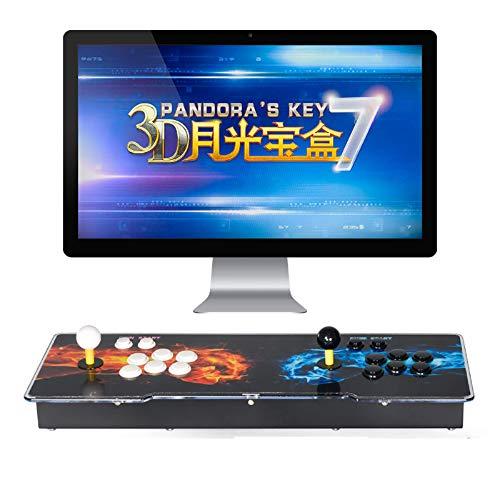 TAPDRA Consola de Juegos Retro Arcade 3D Pandora Key 7 2670 Retro HD Games (Juegos 3D 160 en uno incluidos) HD 1280x720 Soporte multijugador Agregar más Juegos Salida de Audio HDMI/VGA/USB/3,5mm
