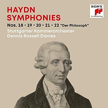"""Haydn: Symphonies / Sinfonien Nos. 18, 19, 20, 21, 22 """"Der Philosoph"""""""
