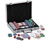 PROMO SHOP Maletin Poker con 200 Fichas de Poker de 5 valores Distintos, 5...