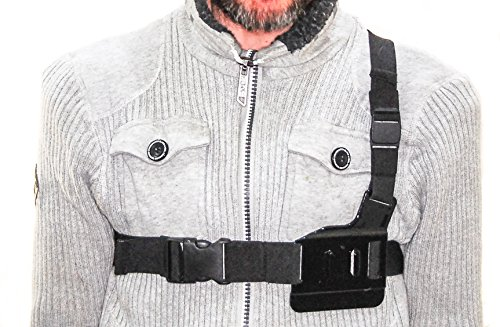Arnés de pecho PROtastic ligero para GoPro SJCAM/cámaras de acción: esquí, surf, ciclismo