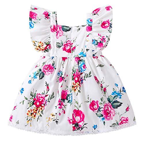 Yanhoo-Kinder Tutu Kleid Prinzessin Kleider Babybekleidung Partykleid Mädchen Karikatur Hase Tops Drucken Strampler Jumpsuit