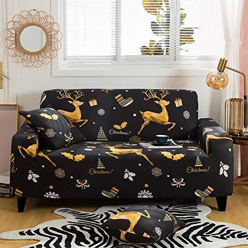 WXQY Fundas Estampadas Florales Funda de sofá elástica elástica Funda de sofá de protección para Mascotas Funda de sofá con Esquina en Forma de L Funda de sofá con Todo Incluido A10 1 Plaza