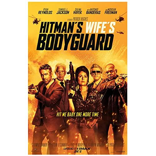 ヒットマンズ・ワイフズ・ボディーガード (2021) 映画ポスター ウォールアート キャンバス 絵画 ポスターとプリント リビングルームの家の装飾 ギフト - 50x70cm フレームなし