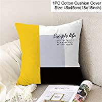 2個の品質耐久性のあるソフトクラシックスタイルの幾何学的ジッパー枕の装飾的なクッションソファDIYプリントピローチェアカークッションホーム装飾 626 (Color : 12)