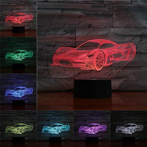 3D Nachtlicht Kinder Spielzeug Rennen Sportwagen Tischlampe Geschenke für Freunde Rennwagen Lichter Nacht Dekoration