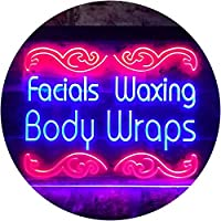 Faxing Waxing Body Wraps Beauty Salon Dual Color LED看板 ネオンプレート サイン 標識 赤色 + 青色 600 x 400mm st6s64-i2454-rb