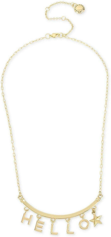 BCBGeneration BCBG Gold-Tone Hello Collar Necklace, 16
