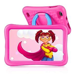 VANKYO Tablet Niños de 8 Pulgadas, Tablet Infantil con ROM de 32GB Ampliable hasta 128GB, Tablet Niño Processore Quad-Core con WiFi, Android 9.0, RAM de 2GB (Rosa)