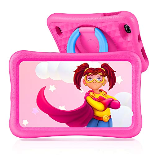 VANKYO Tablet Niños de 8 Pulgadas, Tablet Infantil con ROM de 32GB Ampliable hasta 128GB, Tablet Niño Processore Quad-Core con WiFi, Android 9.0, RAM de 2GB (Rosa)