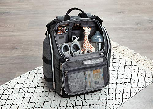 Baby Brezza Ultimate Changing Station Baby Diaper Bag Backpack - Extra Large Capacity Design with 17 Pockets, Perfect for 1 Baby or Twins