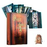 Tarjetas de la Vida pasada Oracle Oracle con Bolsa de Terciopelo,Past Life Oracle Oracle Cards