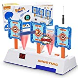 YOQVHUA Electronic Shooting Targets Compatible for Nerf Guns, Digital Scoring Auto Reset 3 Targets Toys, Shooting Game Toys Ideal Gift for 3+ Years Old Kids-Boys & Girls