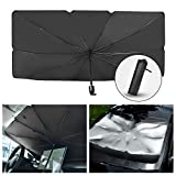 Car Sun Shade for Windshield Foldable Sunshades Umbrella for Car Front Windshield, Easy to Store and Use Protect Vehicle from UV Sun and Heat Fits Windshields of Various Sizes (57'' x 31'')