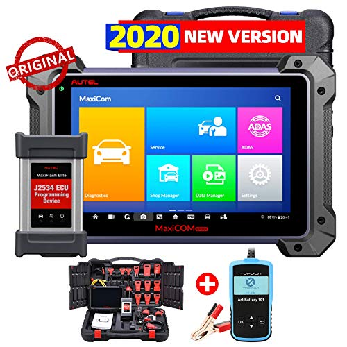 Autel Maxisys Pro MK908P, Top OBD2 Diagnostic Scanner with J2534 Reprogramming, ECU Coding, Active Test, 30+ Service Functions, Same as Maxisys Elite, MS908P, Free Car Battery Tester AB101 is Given