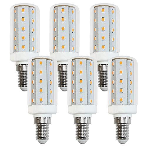 6 bombillas LED T30, tubo de 4 W, núcleo, luz blanca fría, 6500 K, luz diurna, 360° (E14, 6 unidades)