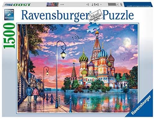 Ravensburger Mosca, Puzzle 1500 pezzi, Russia, Relax, Puzzles da Adulti, Dimensione: 80x60 cm, Stampa di alta qualità, Travel, Viaggi