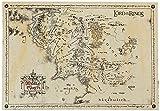 GB eye SPM001 Carte du Seigneur des Anneaux Poster Parchemin Bois Divers 65 x 3,5 x 3,5 cm