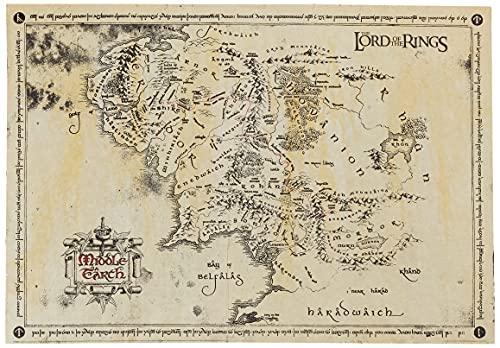 Póster de «El Señor de los Anillos» de GB Eye, Mapa pergamino, 65 x 3.5 x 3.5 cm