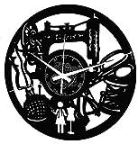 Instant Karma Clocks - Reloj de Pared de Vinilo, Idea Regalo para máquina de Coser para Mujer, Vintage, Hecho a Mano
