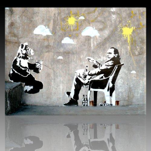 Bild auf Leinwand Banksy Graffiti Kunstdruck Street Art - Alf (div. größen) (40x60cm)
