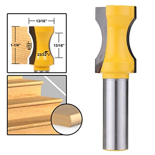 Letbo New Radius Convex Column Router Bit 1/2 Inch Shank Woodworking Milling