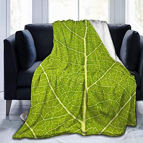 Decke Green Leaf Flanell Fleece Überwurfdecken für Baby Kinder Männer Frauen, weiche warme Decken Queen Size und Überwürfe für Couch Bed Travel Sofa
