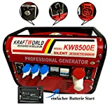 Stromerzeuger Benzin Notstrom Generator Stromgenerator Aggregat KW8500 E-STARTER