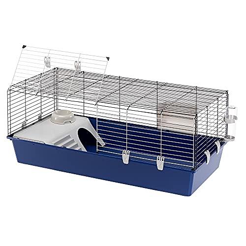 Ferplast Cage à Lapins Rabbit 120 Partie Avant Ouvrable Accessoire Inclus1 Unité