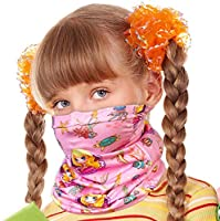 WZLVO Seamless Face Cover Mouth Mask Scarf Bandanas Neck Gaiter for Girls Mermaid