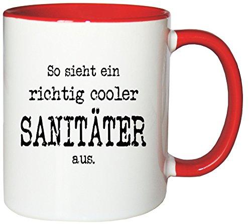 Mister Merchandise Kaffeetasse Becher So Sieht EIN richtig Cooler Sanitäter