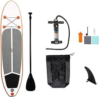 Fklee Antideslizante Sup Hinchable Stand Up Paddle Board con Paleta, Correa, Mochila y Kit de reparación Tabla de Surf (Color : Naranja, tamaño : 320x76x15cm)