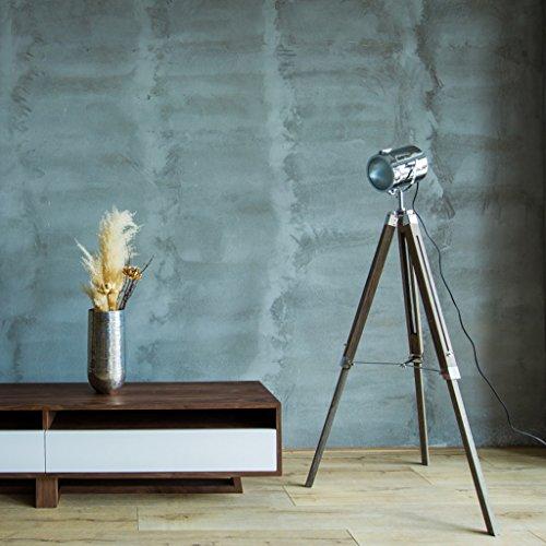 LYM & daglicht vloerlamp tafelstatief standaard DREI-in-One stad industrieel ontwerp (koper, zilver, vloerlamp) vloerlamp