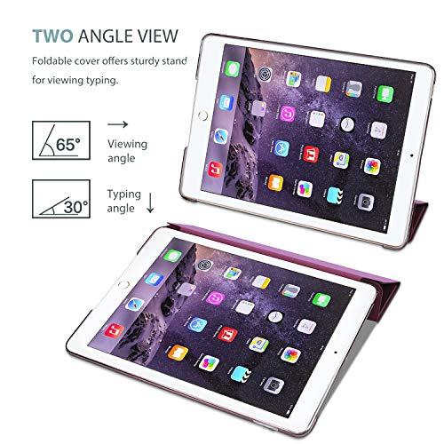 ProCase iPad Air 2 Ultra Dünn Smart Hülle, Leichte Stand Schutzhülle Shell mit Translucent Frosted Rückhülle für Apple iPad Air 2 (A1566 A1567) -Wein