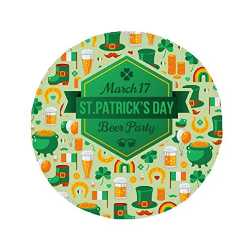 DIYthinker Clover Bier Rainbow Irland St. Patrick 's Day Anti-Rutsch Boden Pet Matte r& Badezimmer Wohnzimmer Küche Tür 60/50cm Geschenk, Gesponnenes Polyester, Mehrfarbig, 50X50cm