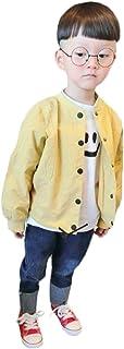 [チューカー] キッズ服 ジャンパー ジャケット ボーイズ 長袖 トップス 無地 袖リブ 前ボタン ホック ショート丈 バックロゴ カジュアル