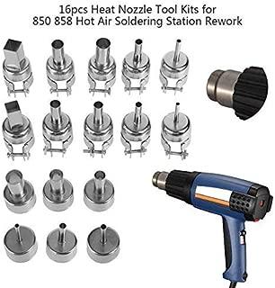 Yunhany Direct 16pcs Heat Nozzle Tool Kits for 850 858 Hot Air Soldering Station Rework Repair Tools