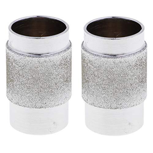 kowaku 2Set Muela Abrasiva Del Diamante Del Pedazo de La Cabeza de La Amoladora Del Vitral para El Azulejo1.8x0.8cm