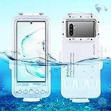 PULUZ Profesional 45 m/147 pies buceo surf natación snorkel foto video impermeable carcasa submarina para Galaxy, Huawei, Xiaomi, Google y todos los teléfonos inteligentes Android con función OTG